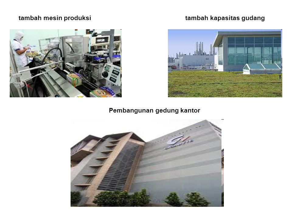 tambah mesin produksitambah kapasitas gudang Pembangunan gedung kantor