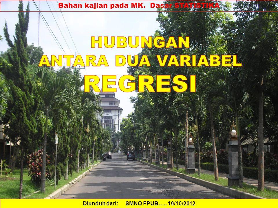 Bahan kajian pada MK. Dasar STATISTIKA Diunduh dari: SMNO FPUB….. 19/10/2012