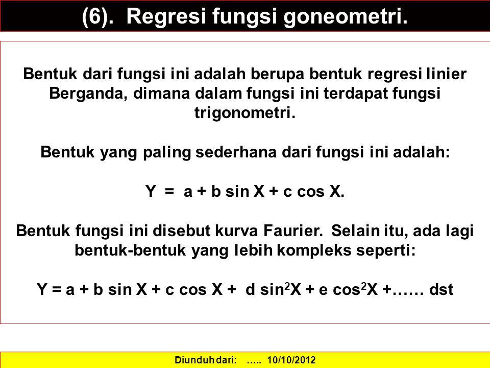 (6).Regresi fungsi goneometri.