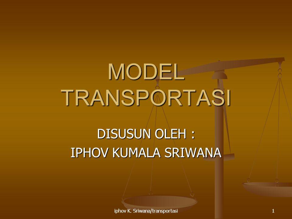 iphov K. Sriwana/transportasi1 MODEL TRANSPORTASI DISUSUN OLEH : IPHOV KUMALA SRIWANA
