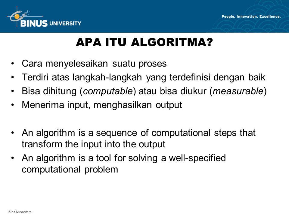 Bina Nusantara APA ITU ALGORITMA.