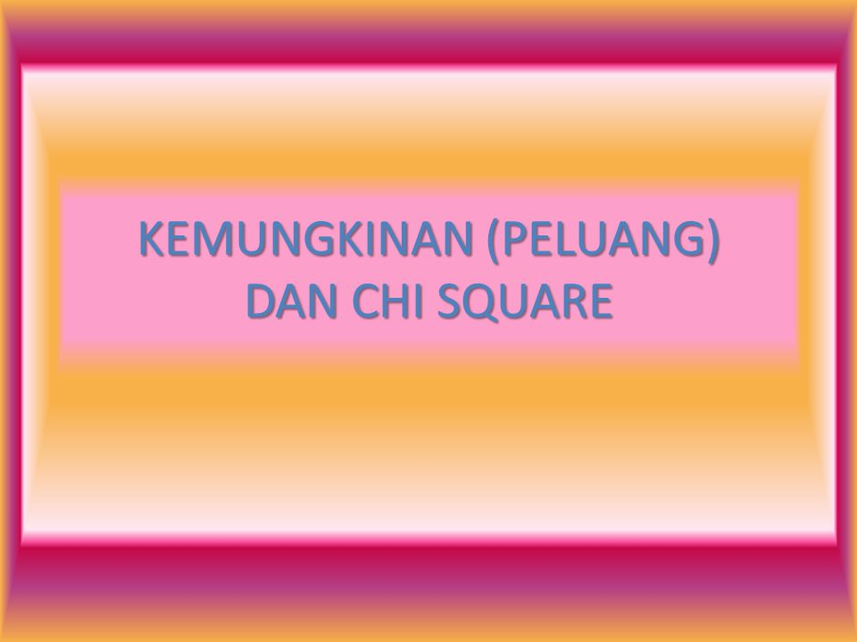 Chi-Square Formula