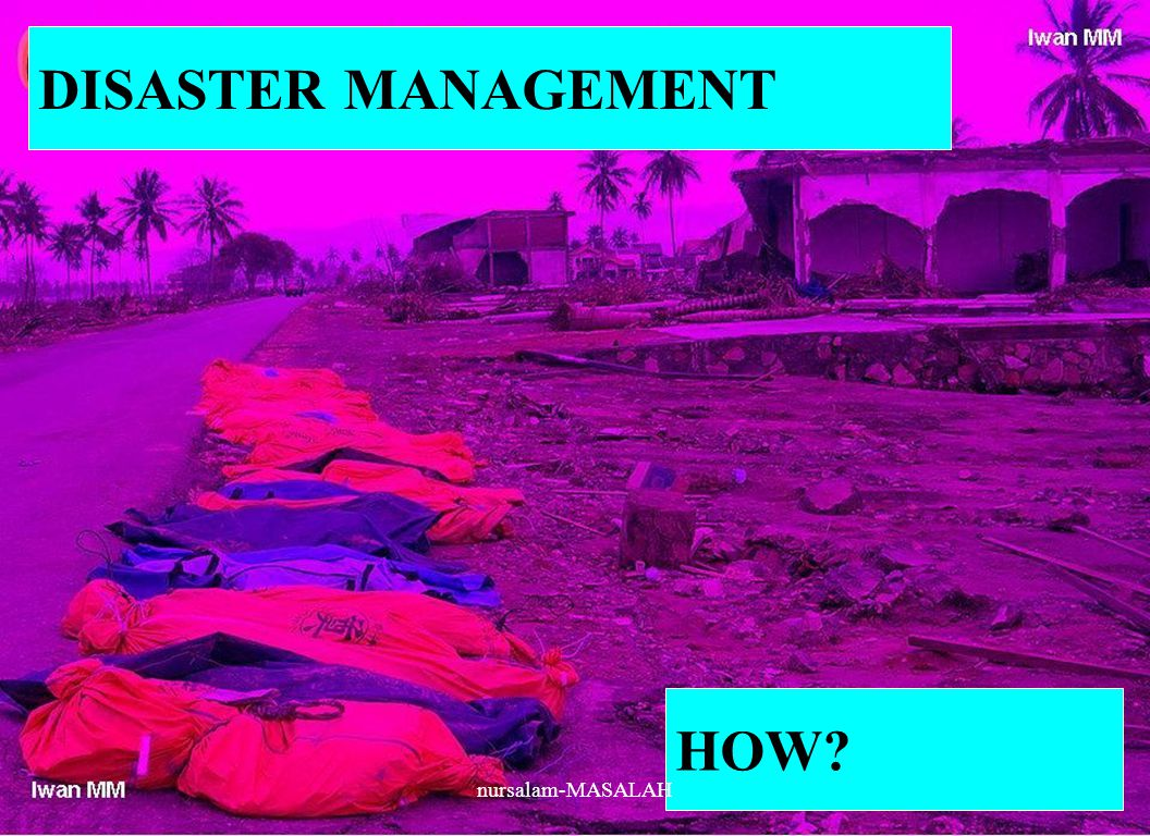 DISASTER MANAGEMENT HOW? nursalam-MASALAH