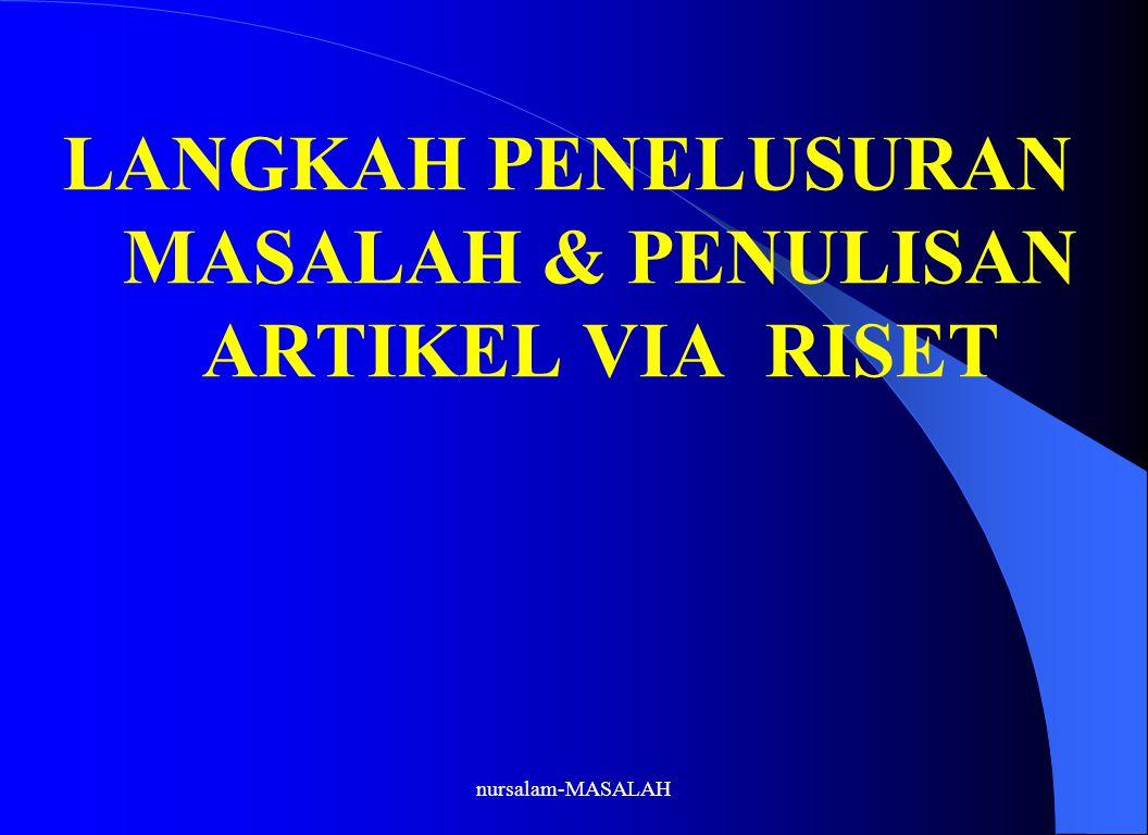 nursalam-MASALAH 7.WRITE CHAPTER 4 ( RESEARCH METHODS) 7.