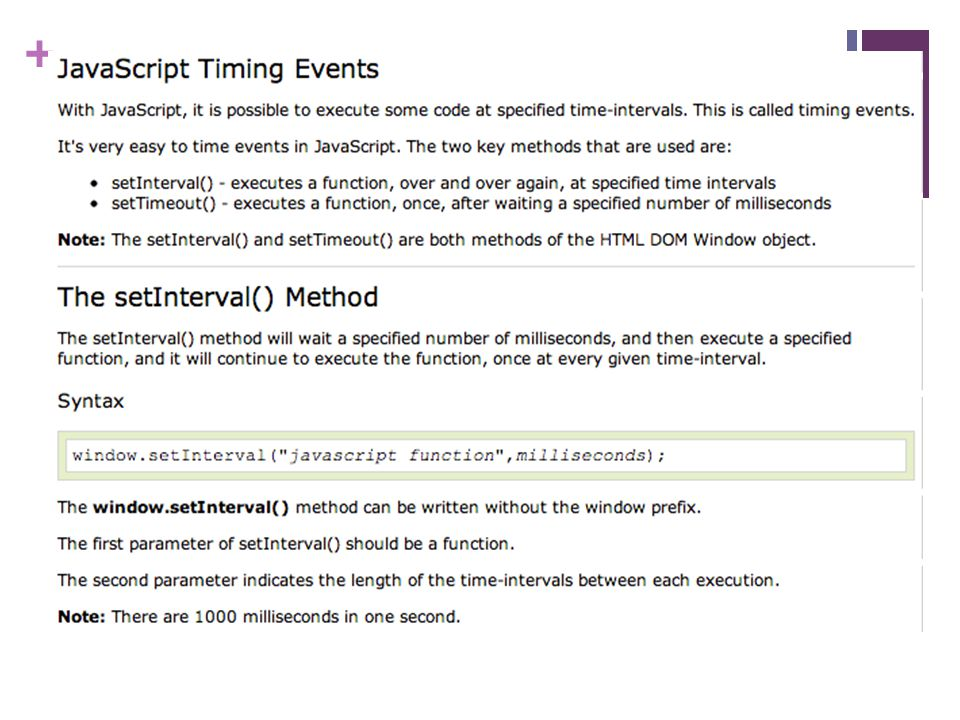 + Timer Pada Javascript