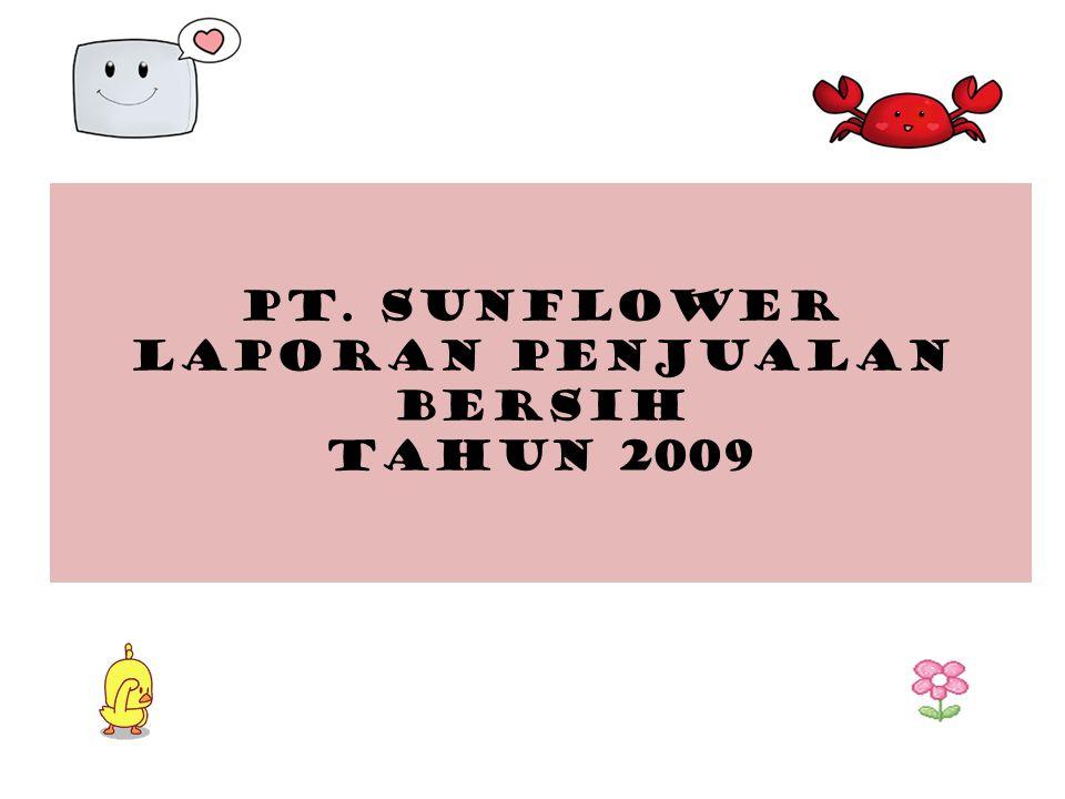 PT. SUNFLOWER LAPORAN PENJUALAN BERSIH TAHUN 2009