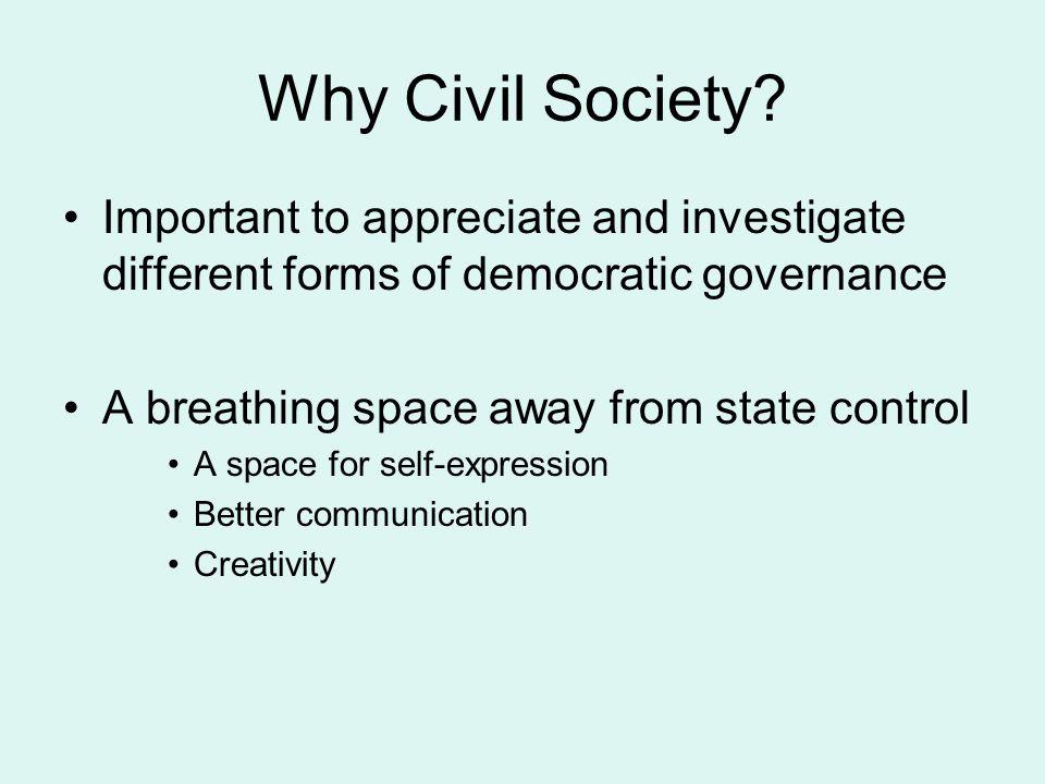 Why Civil Society.