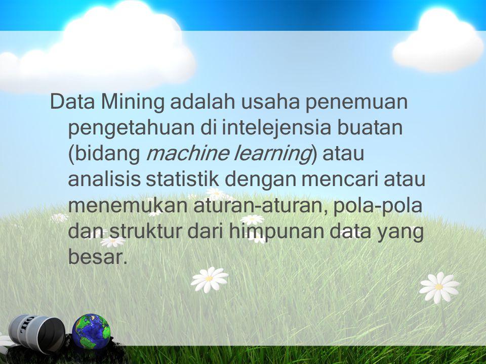 Proses Datamining Pembersihan Data Data Integration Databases Data Warehouse Task-relevant Data Selection Data Mining Pattern Evaluation
