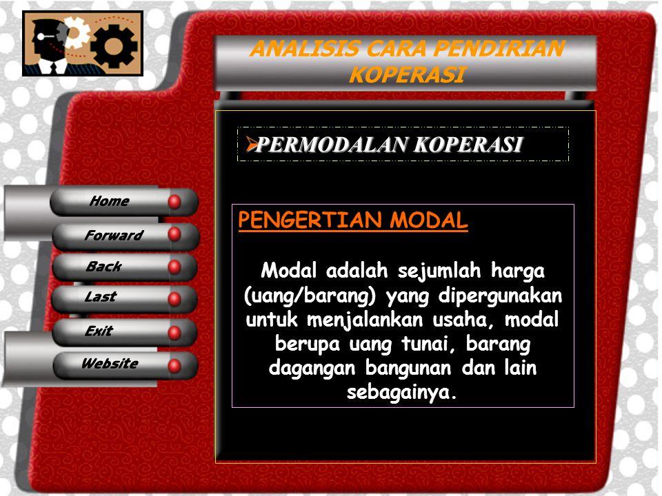 ANALISIS CARA PENDIRIAN KOPERASI SUMBER MODAL KOPERASI Modal koperasi terdiri dari Modal Sendiri dan Modal Pinjaman.