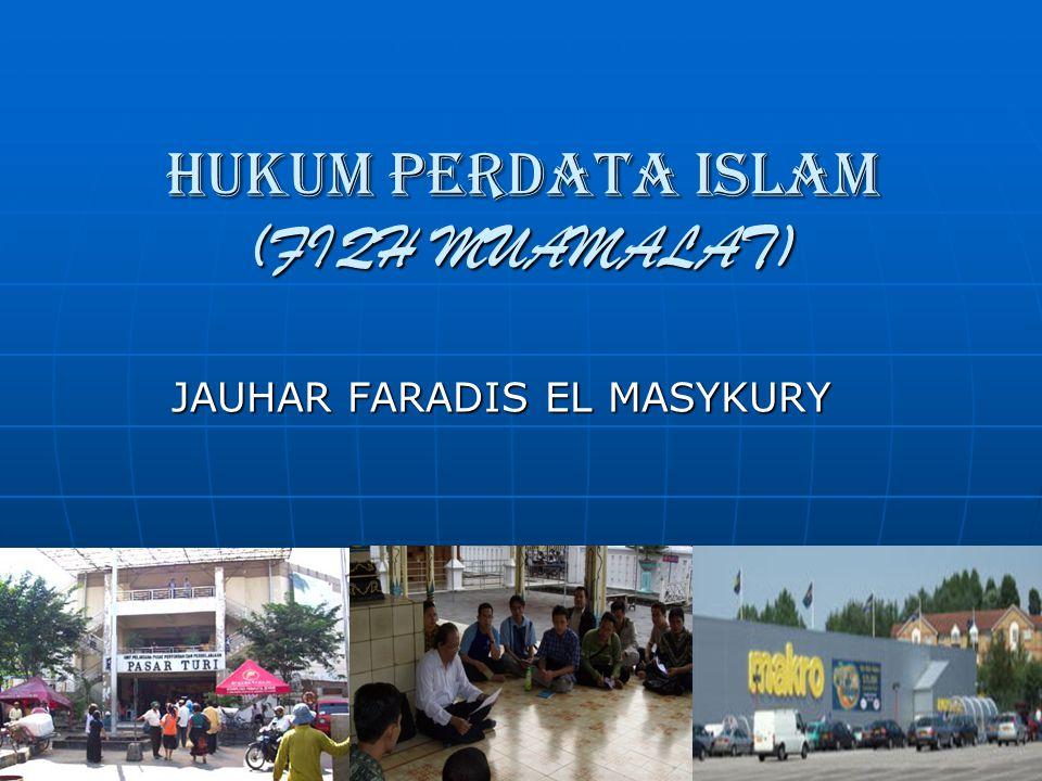 Maslahat sebagai prinsip Muamalah Muamalat adalah aturan syari ' ah tentang hubungan sosial di antara manusia.