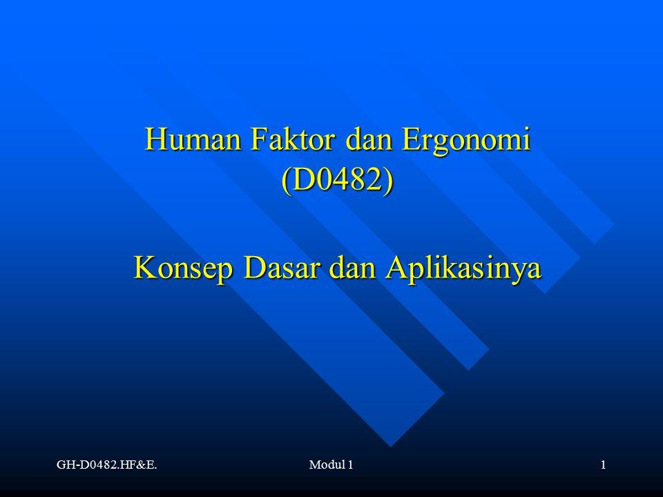 GH-D0482.HF&E.Modul 11 Human Faktor dan Ergonomi (D0482) Konsep Dasar dan Aplikasinya