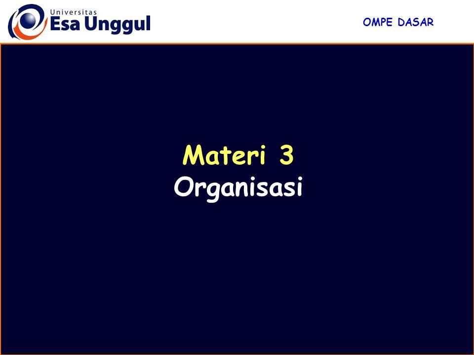 Materi 3 Organisasi OMPE DASAR