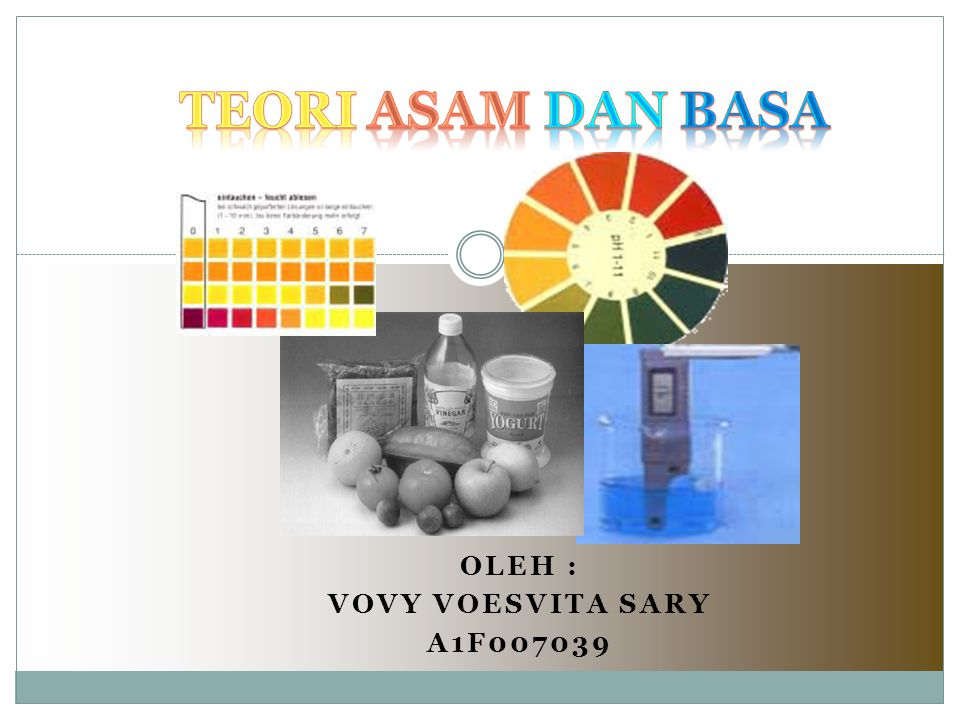 OLEH : VOVY VOESVITA SARY A1F007039