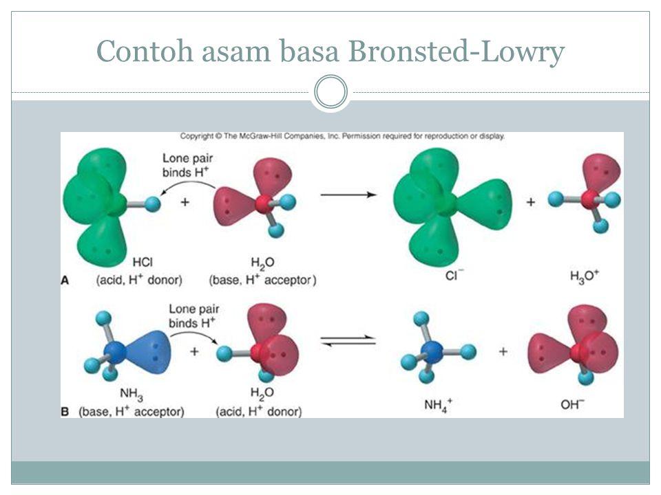 Contoh asam basa Bronsted-Lowry
