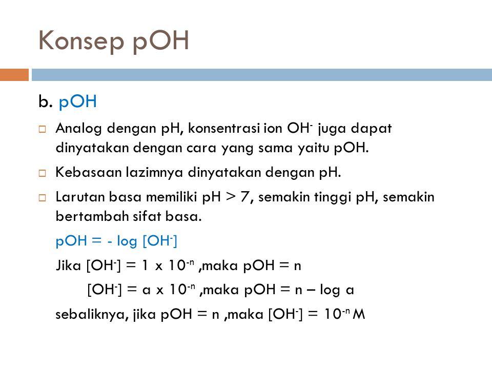Konsep pOH b.