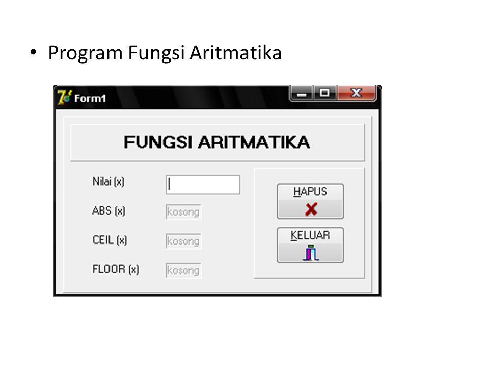 Program Fungsi Aritmatika
