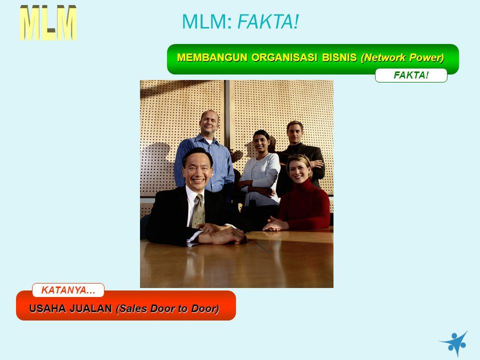 MLM: FAKTA! KATANYA… USAHA JUALAN (Sales Door to Door) FAKTA! MEMBANGUN ORGANISASI BISNIS (Network Power)