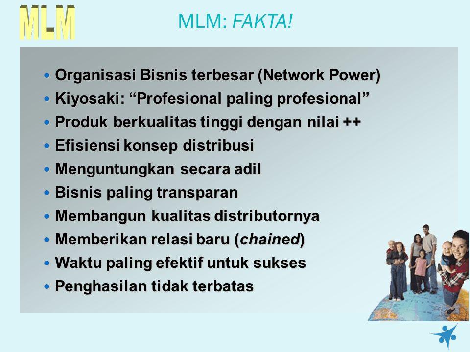 "MLM: FAKTA! Organisasi Bisnis terbesar (Network Power) Organisasi Bisnis terbesar (Network Power) Kiyosaki: ""Profesional paling profesional"" Kiyosaki:"