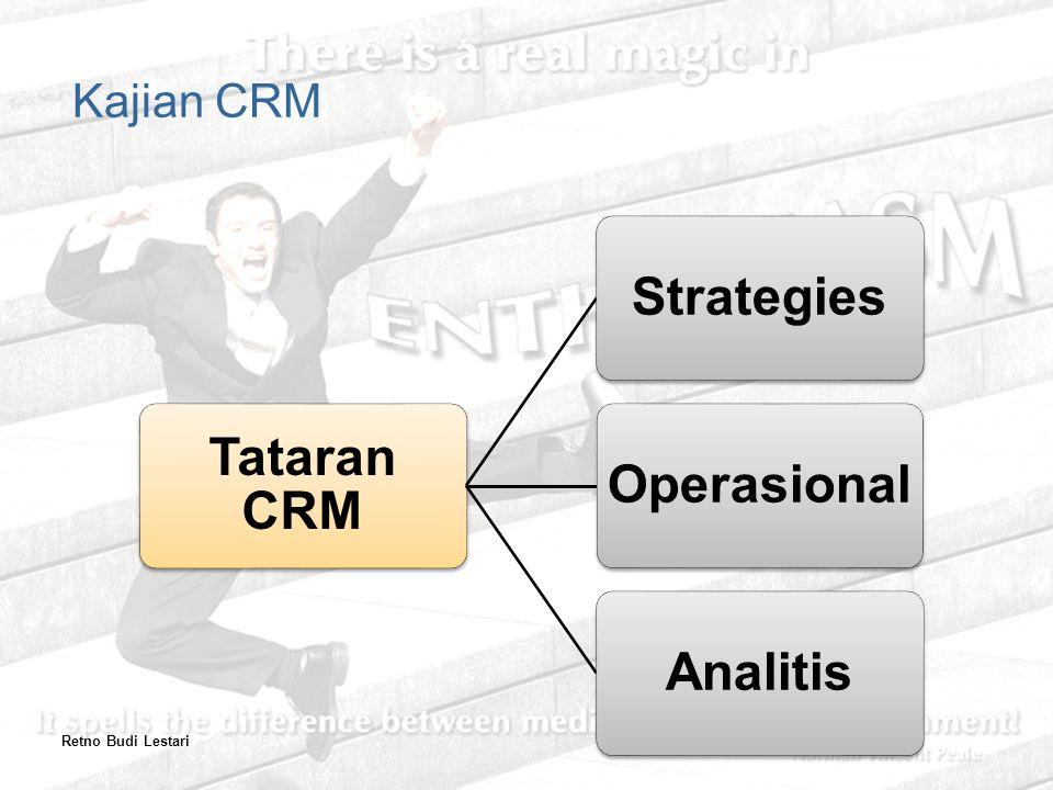 Tataran CRM StrategiesOperasionalAnalitis Kajian CRM Retno Budi Lestari