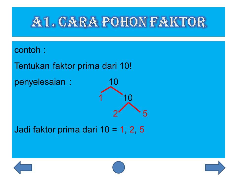 Faktor prima adalah bilangan prima dari suatu bilangan.