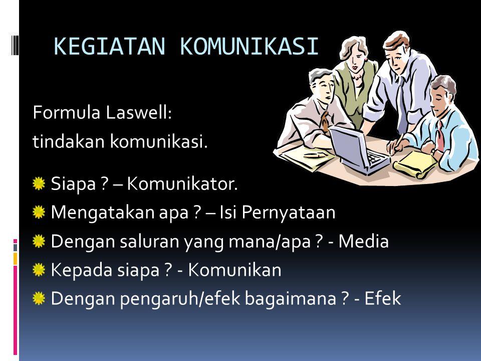 MODEL LINIER  Komunikasi bergerak satu arah Komunikator Komunikan  Komunikan bersifat pasif  menerima apa saja yang disampaikan (menekankan keterga