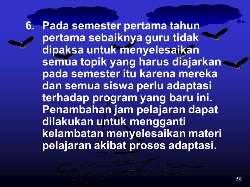49 5.Guru seoptimal mungkin menggunakan bahasa Inggris dalam berkomunikasi dengan siswa meskipun dalam keadaan terpaksa penggunaan bahasa Indonesia ti
