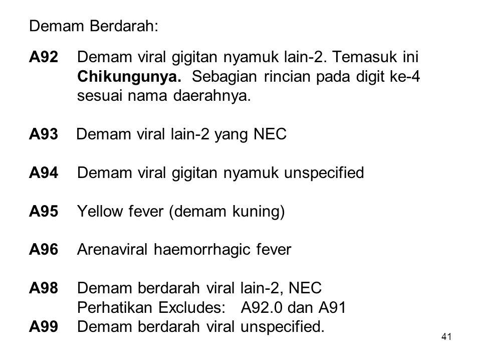 41 Demam Berdarah: A92Demam viral gigitan nyamuk lain-2.