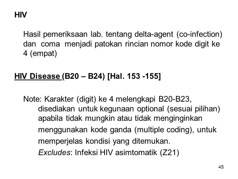 45 HIV Hasil pemeriksaan lab.