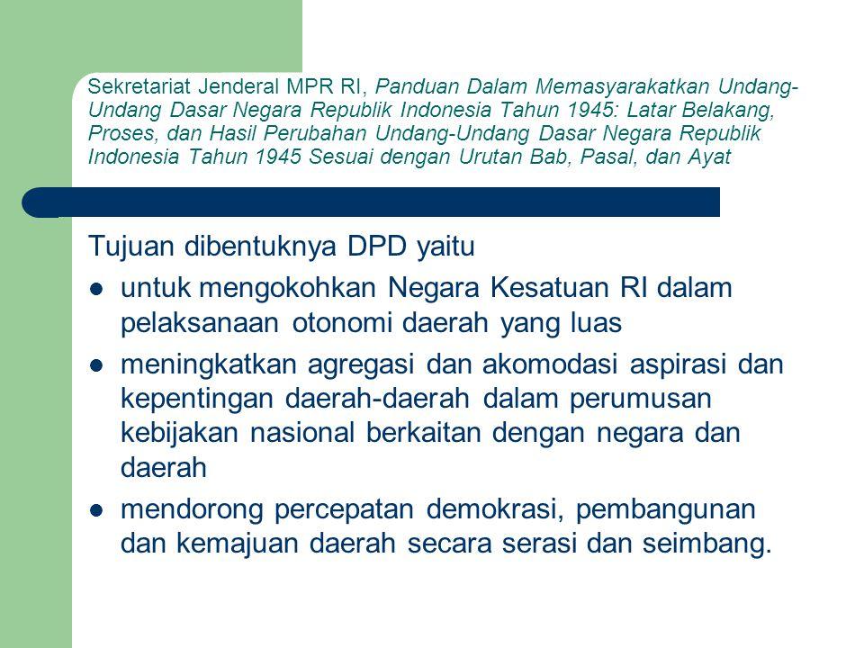 Sekretariat Jenderal MPR RI, Panduan Dalam Memasyarakatkan Undang- Undang Dasar Negara Republik Indonesia Tahun 1945: Latar Belakang, Proses, dan Hasi