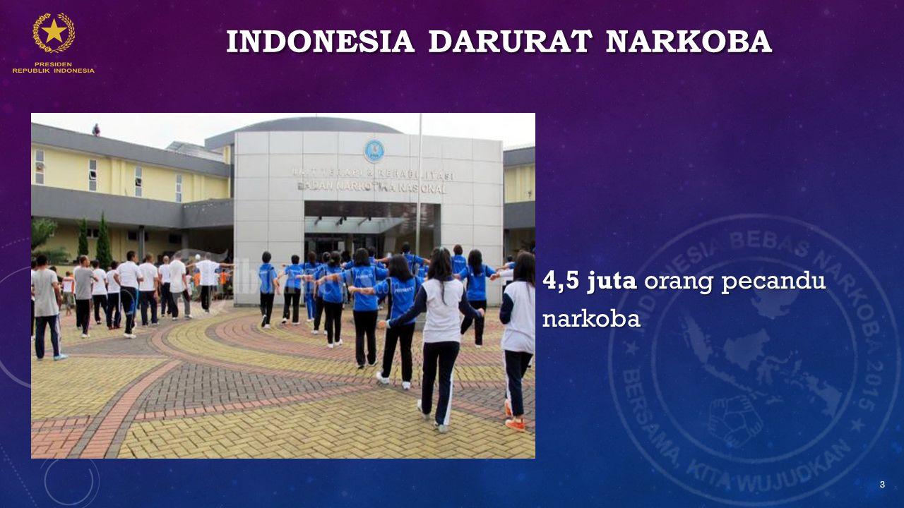 INDONESIA DARURAT NARKOBA 4,5 juta orang pecandu narkoba 3