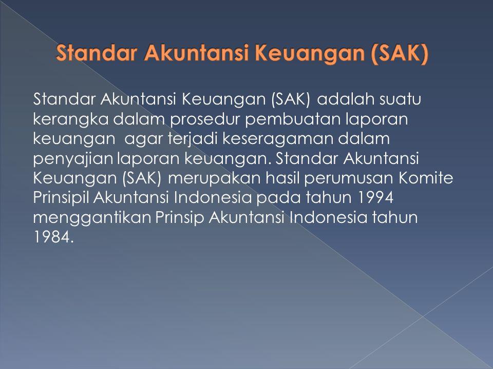 SAK ETAP ini dimaksudkan agar semua unit usaha menyusun laporan keuangan sesuai dengan standar yang telah ditetapkan.
