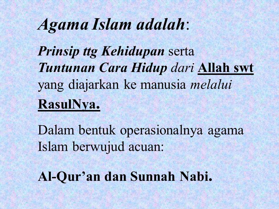 Syariah adalah petunjuk teknis-operasional untuk menjalani hidup sehari-hari.
