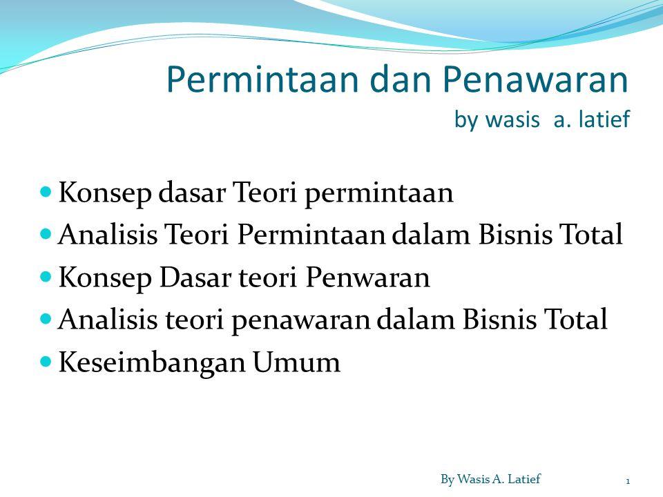 Permintaan dan Penawaran by wasis a.