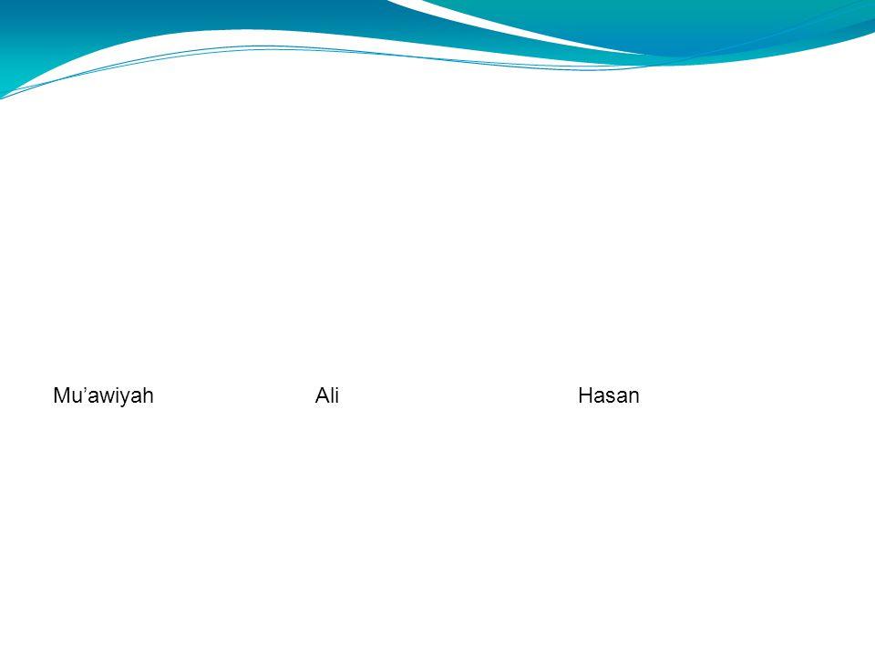 AliHasanMu'awiyah