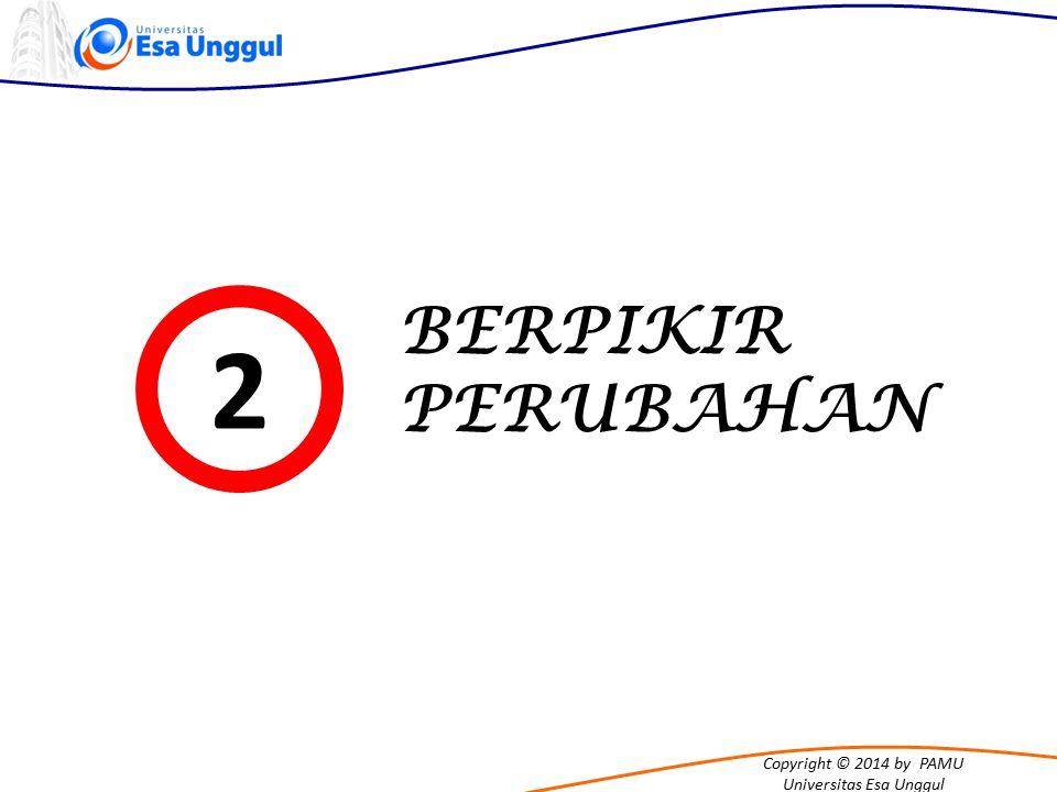 Copyright © 2014 by PAMU Universitas Esa Unggul BERPIKIR PERUBAHAN 2