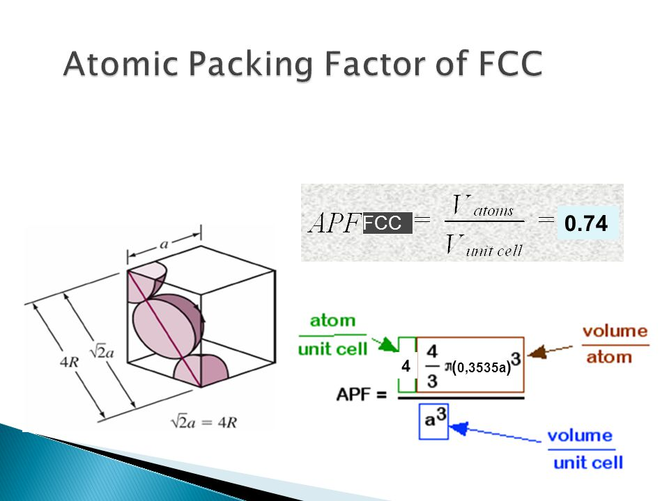 FCC 0.74 4 ( 0,3535a )