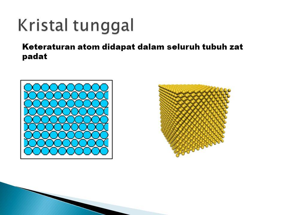 Polikristal : Kumpulan kristalit yang membentuk benda padat.