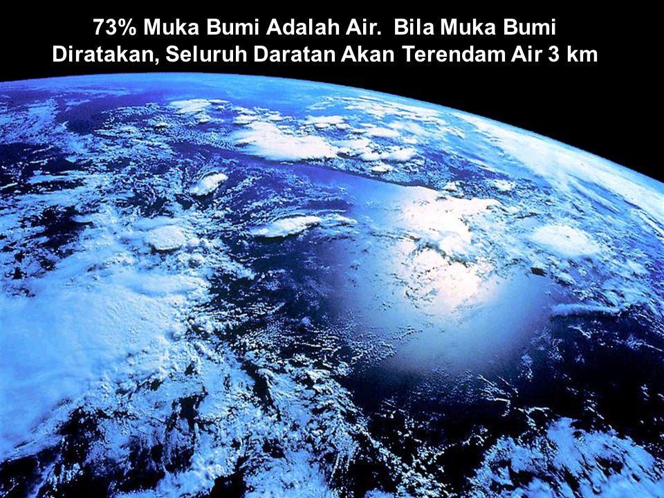 2 73% Muka Bumi Adalah Air. Bila Muka Bumi Diratakan, Seluruh Daratan Akan Terendam Air 3 km
