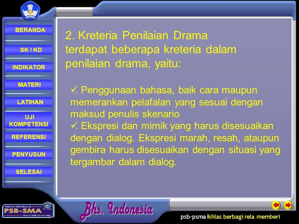 psb-psma Ikhlas berbagi rela memberi REFERENSI LATIHAN MATERI PENYUSUN INDIKATOR SK / KD UJI KOMPETENSI BERANDA SELESAI Nama: Rospoida Sagala,S.pd Ttl: Sitarak, 13 pebruari1977 Sekolah: SMA Negeri 2 balige Jurusan: Bahasa Indonesia PENYUSUN