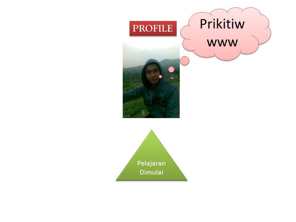 PROFILE Prikitiw www Pelajaran Dimulai Pelajaran Dimulai