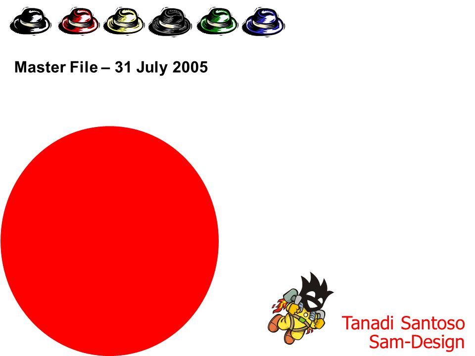 Six Thinking Hats Tanadi Santoso Sam-Design Master File – 31 July 2005