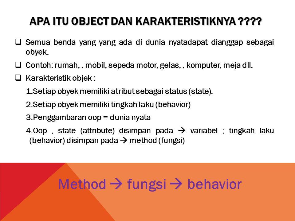  Objek Objek dapat diartikan kepada sebuah benda dalam hal ini anggap saja objek ada lah textbox, label dan comman button.