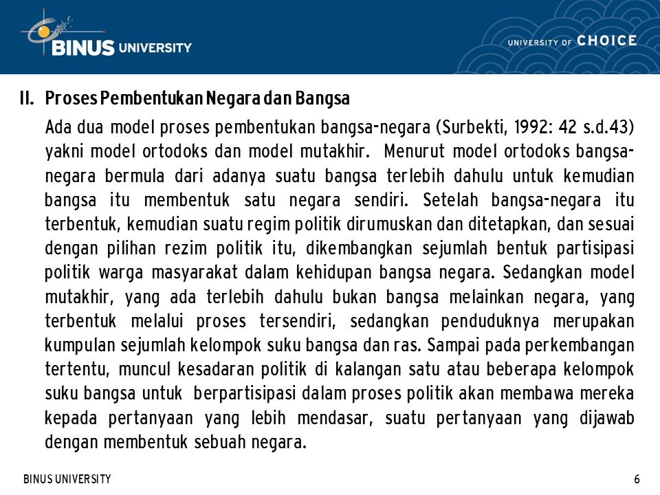 BINUS UNIVERSITY6 II.