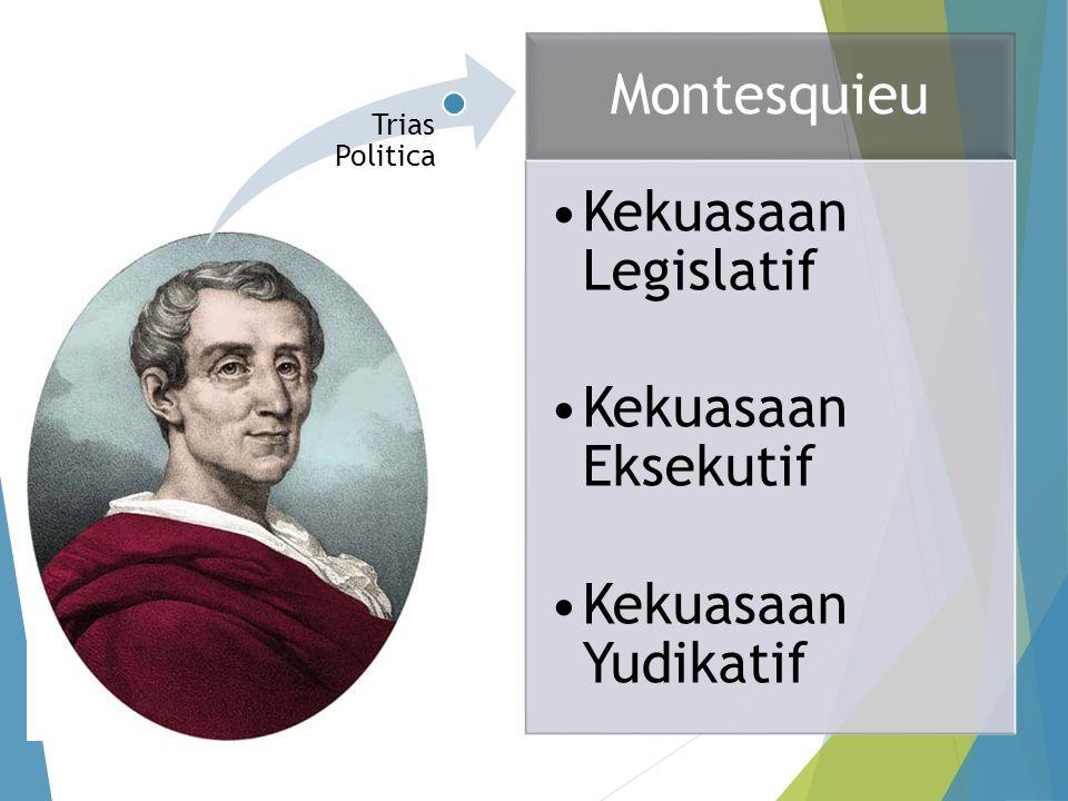 Montesquieu Kekuasaan Legislatif Kekuasaan Eksekutif Kekuasaan Yudikatif Trias Politica