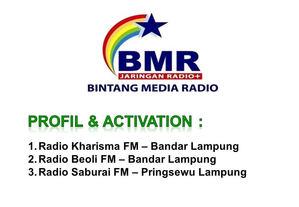 1.Radio Kharisma FM – Bandar Lampung 2.Radio Beoli FM – Bandar Lampung 3.Radio Saburai FM – Pringsewu Lampung