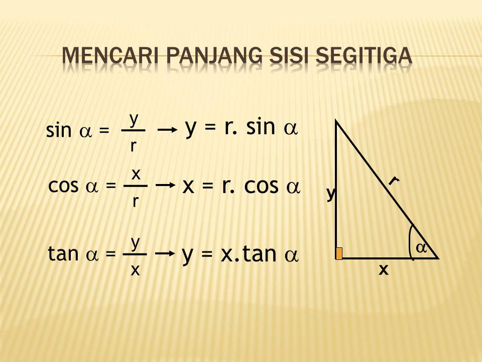 IDENTITAS cos  sin  tan  = Sin 2  + cos 2  = 1 tan  1 cot  =