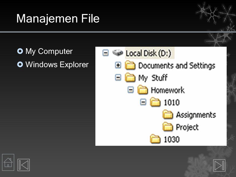 Function Operating System Mengontrol keamanan dan jaringan OS Jaringan  Example: Windows Server 2008  Allows users to share resources on a network  Mengelola keamanan  Username + password usually  Good passwords.