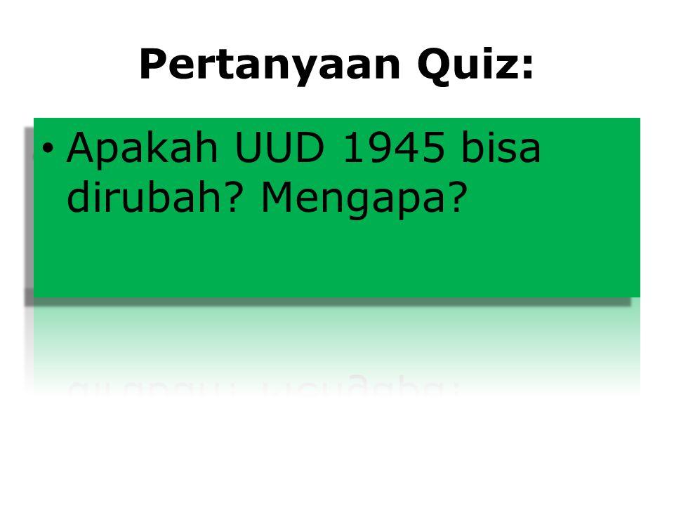 Pertanyaan Quiz: