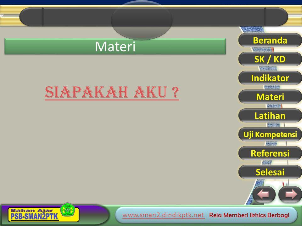www.sman2.dindikptk.net www.sman2.dindikptk.net Rela Memberi Ikhlas Berbagi www.sman2.dindikptk.net www.sman2.dindikptk.net Rela Memberi Ikhlas Berbagi Materi SIAPAKAH AKU .