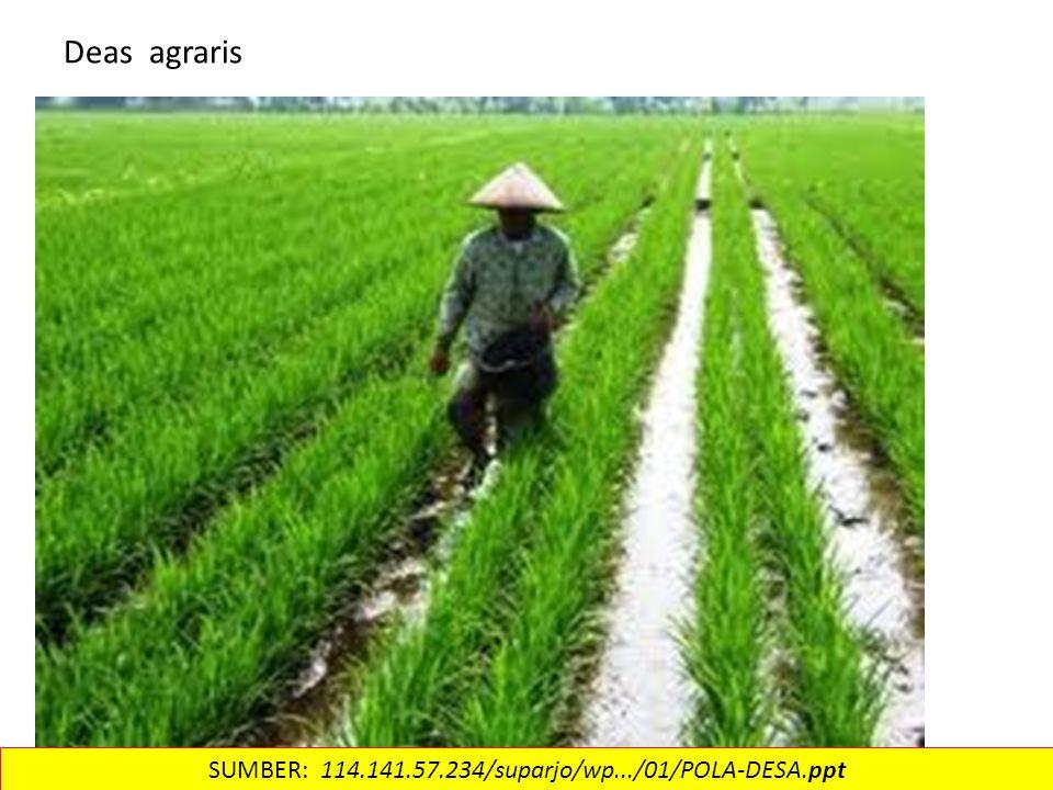 Deas agraris SUMBER: 114.141.57.234/suparjo/wp.../01/POLA-DESA.ppt